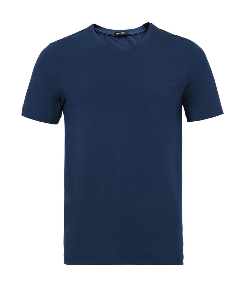 Aimer Men睡衣|爱慕先生新品莫代尔V领短袖上衣NS12A831