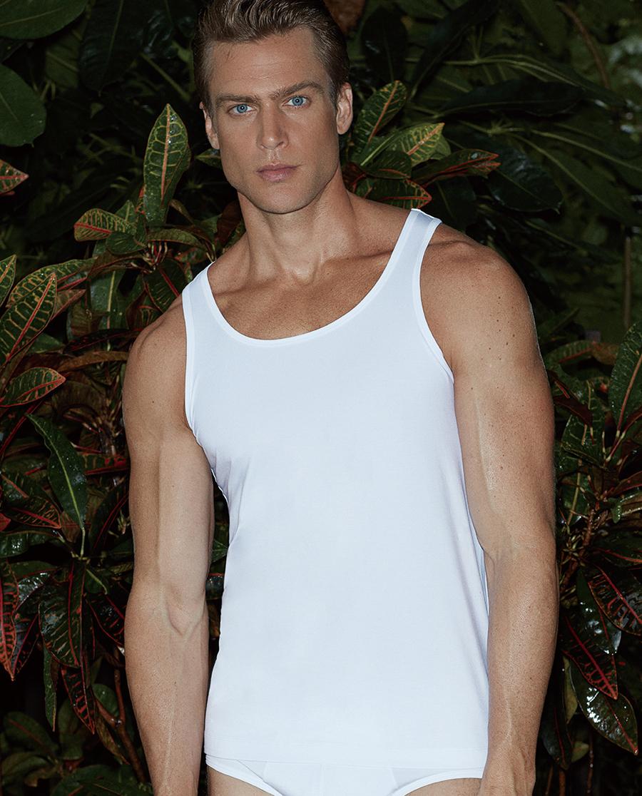 Aimer Men基礎內衣|愛慕先生新品莫代爾跨欄背心NS11A83