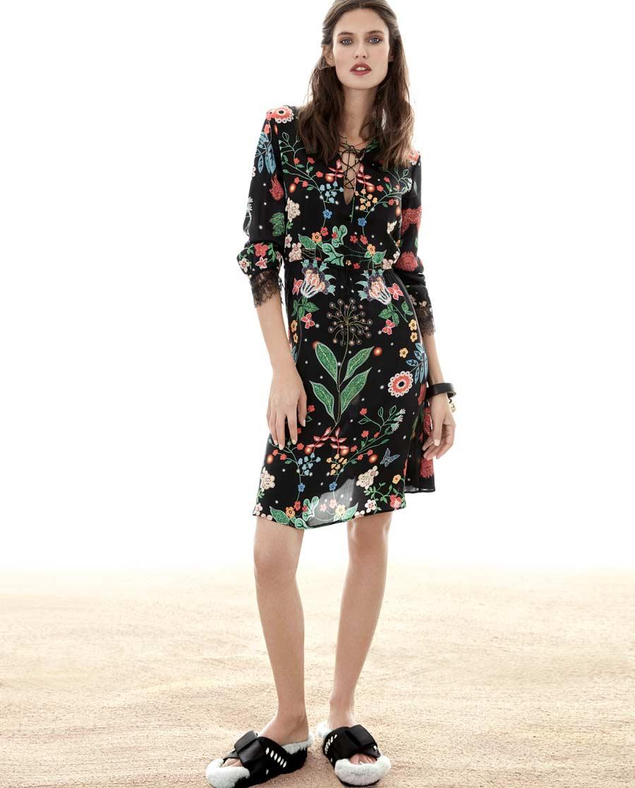 La Clover睡衣|LA CLOVER夏日花园套头中款睡裙LC44DS1