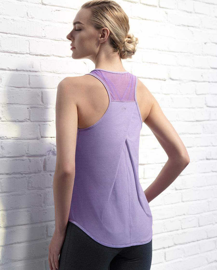 Aimer Sports运动装|爱慕运动春生瑜伽网眼拼接背心AS141C81