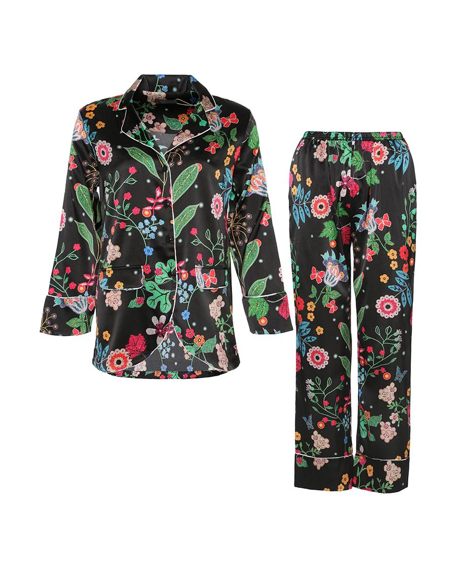 La Clover睡衣|LA CLOVER夏日花园九分袖分身套装LC46DS1