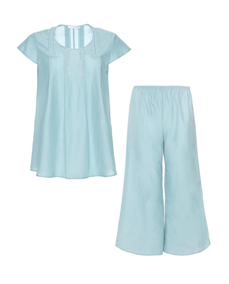 Aimer Home睡衣|爱慕洛克假日短袖分身家居套装AH460071
