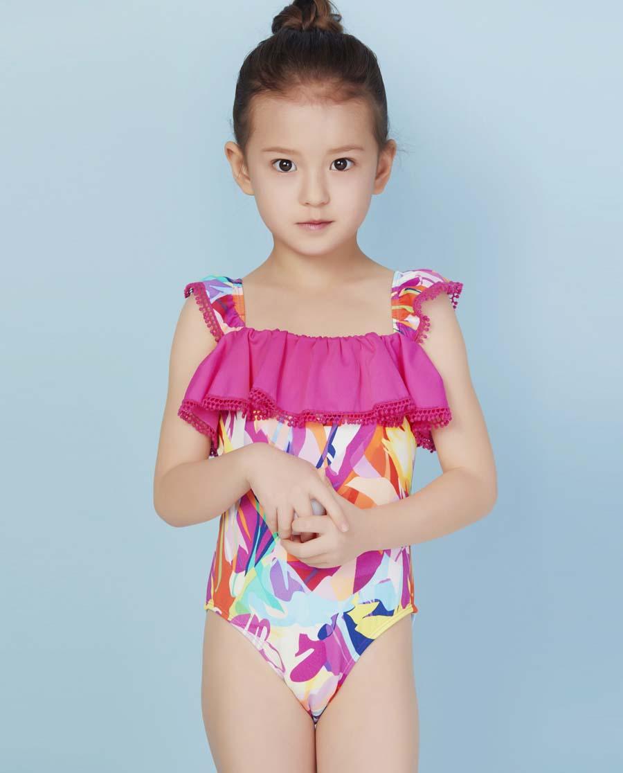 Aimer Kids泳衣|爱慕儿童奇幻花境连体泳衣AK167X52