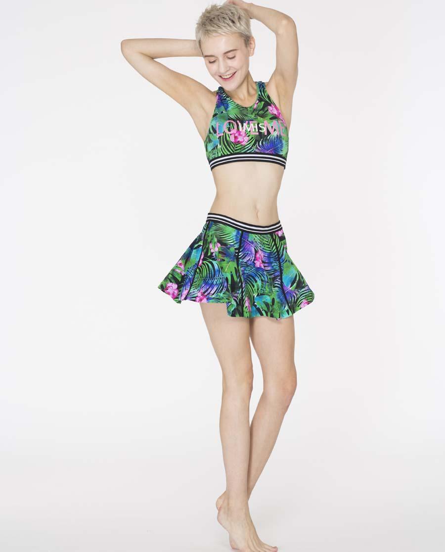 imi's泳衣|爱美丽泳衣幻想丛林无托肚兜式分身两件套泳衣IM67AMH1