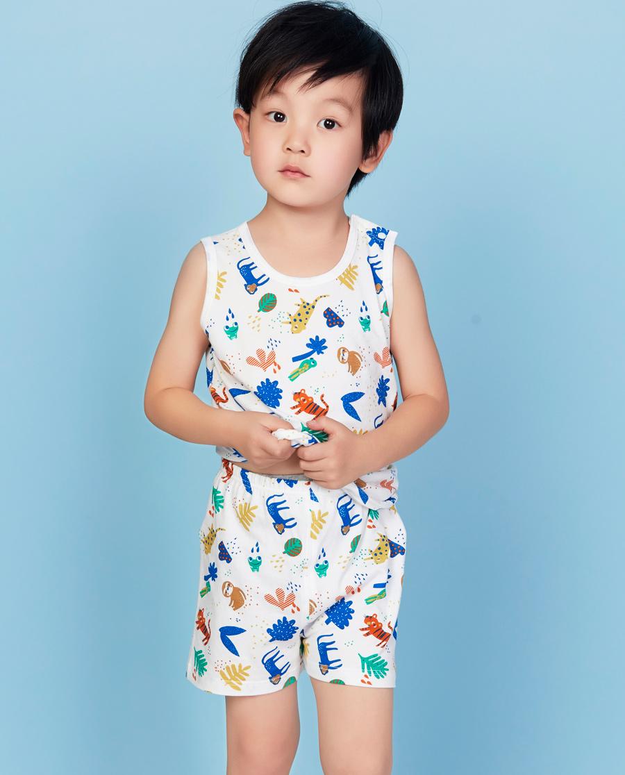 Aimer Baby睡衣|爱慕婴儿热带雨林四角短裤AB242501