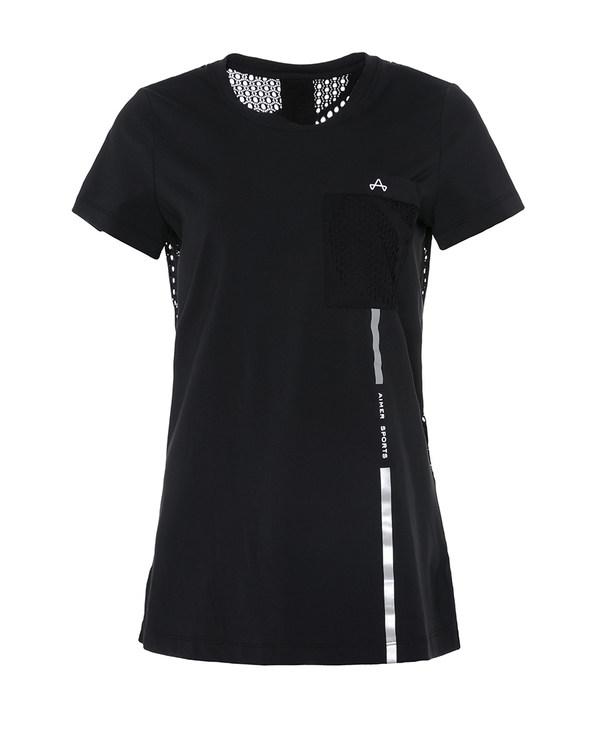 Aimer Sports睡衣|爱慕运动复古派后背镂空长款T恤AS143D11