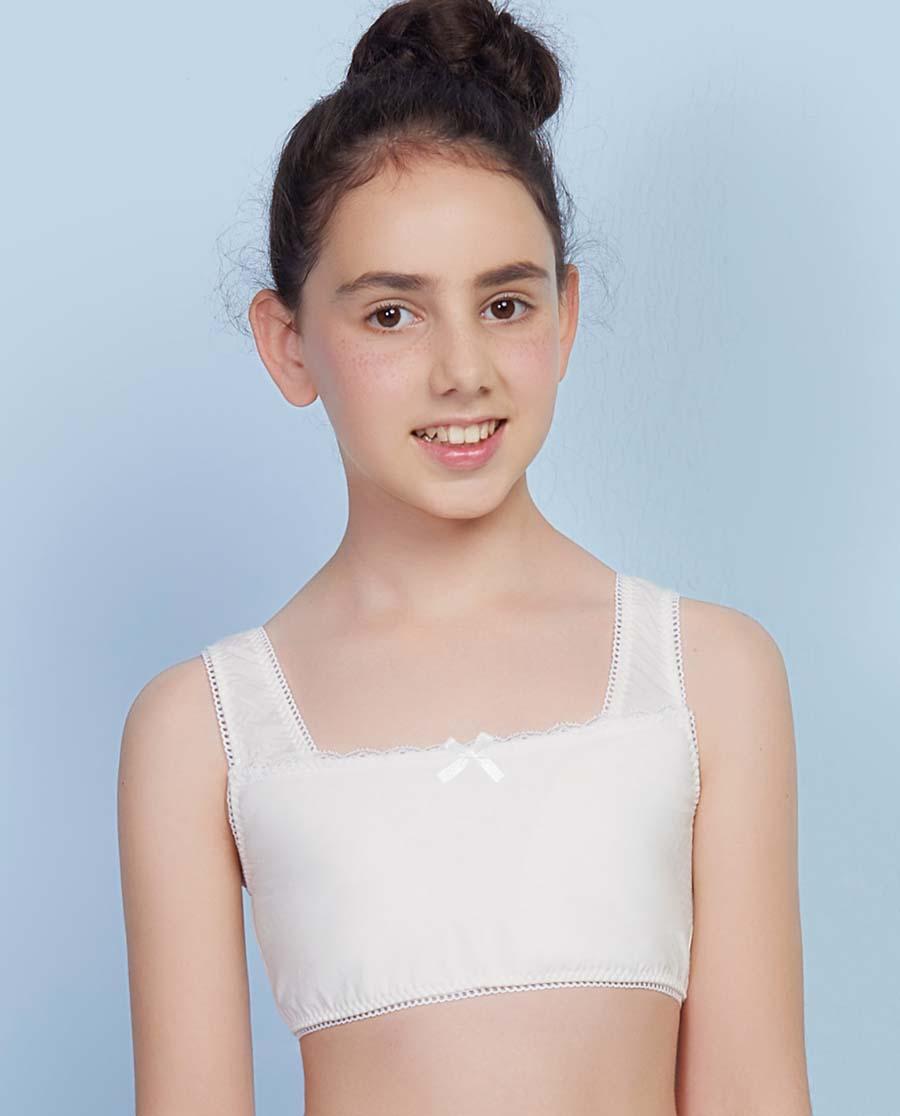 Aimer Junior文胸|爱慕少女钻石牛奶一阶段背心式文胸AJ115V61