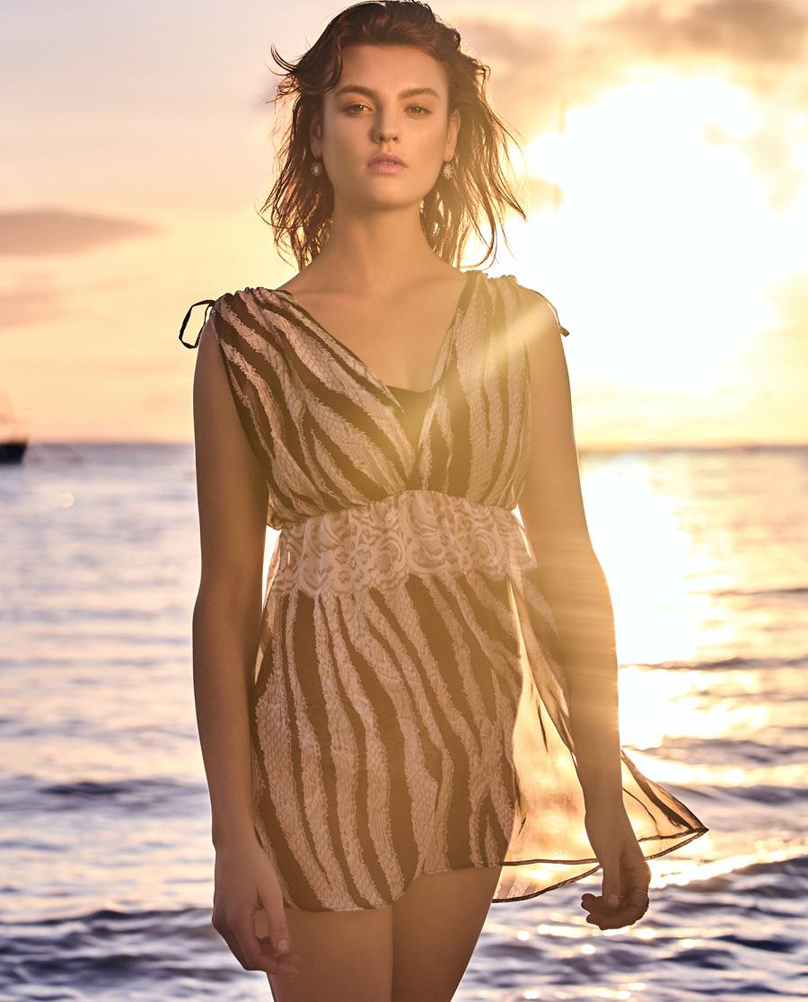 Aimer泳衣|爱慕奢情蕾丝分身裙式泳衣AM671602