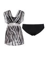 爱慕奢情蕾丝分身裙式泳衣AM671602