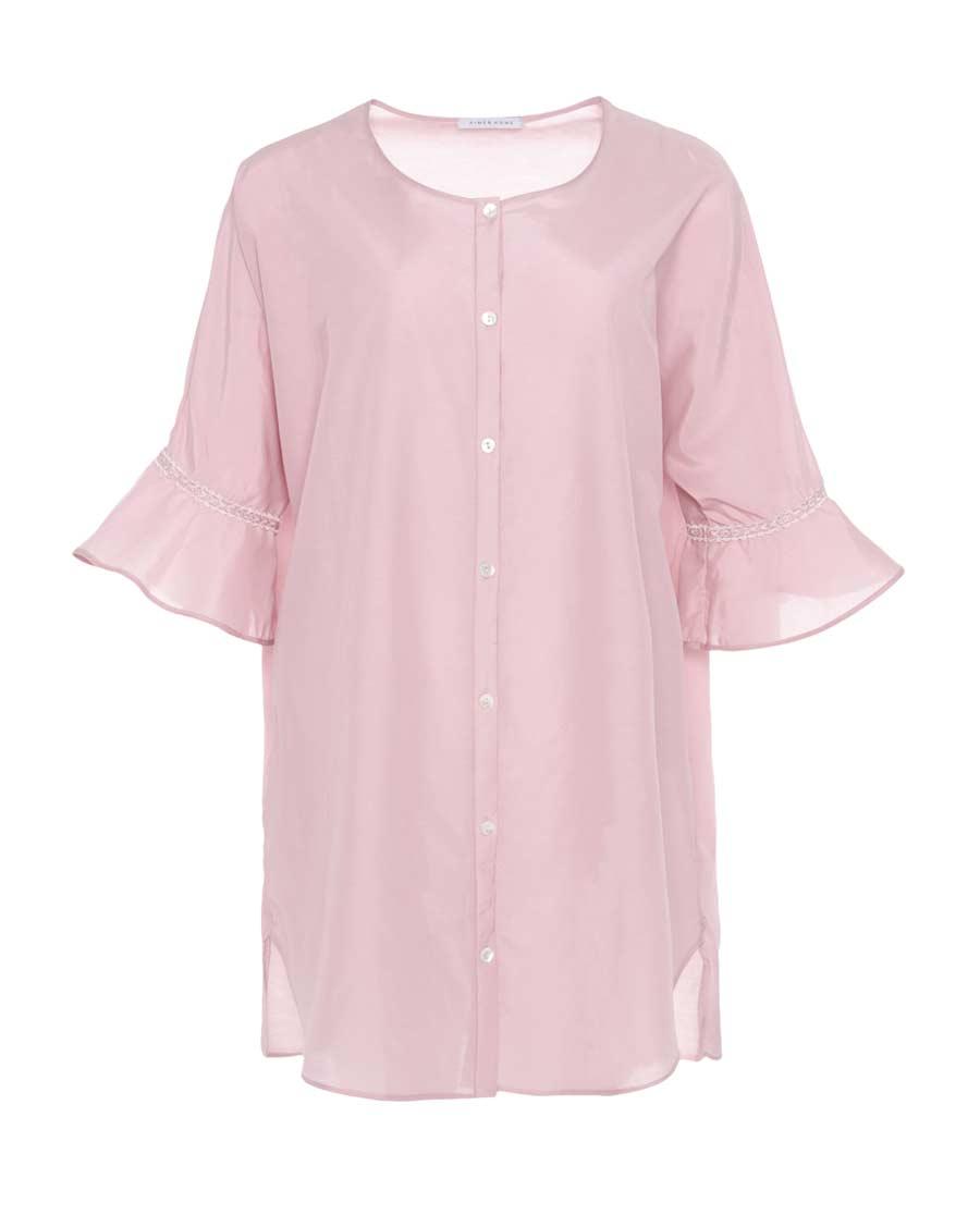 Aimer Home睡衣 爱慕家品洛克假日七分袖衬衫裙AH440071