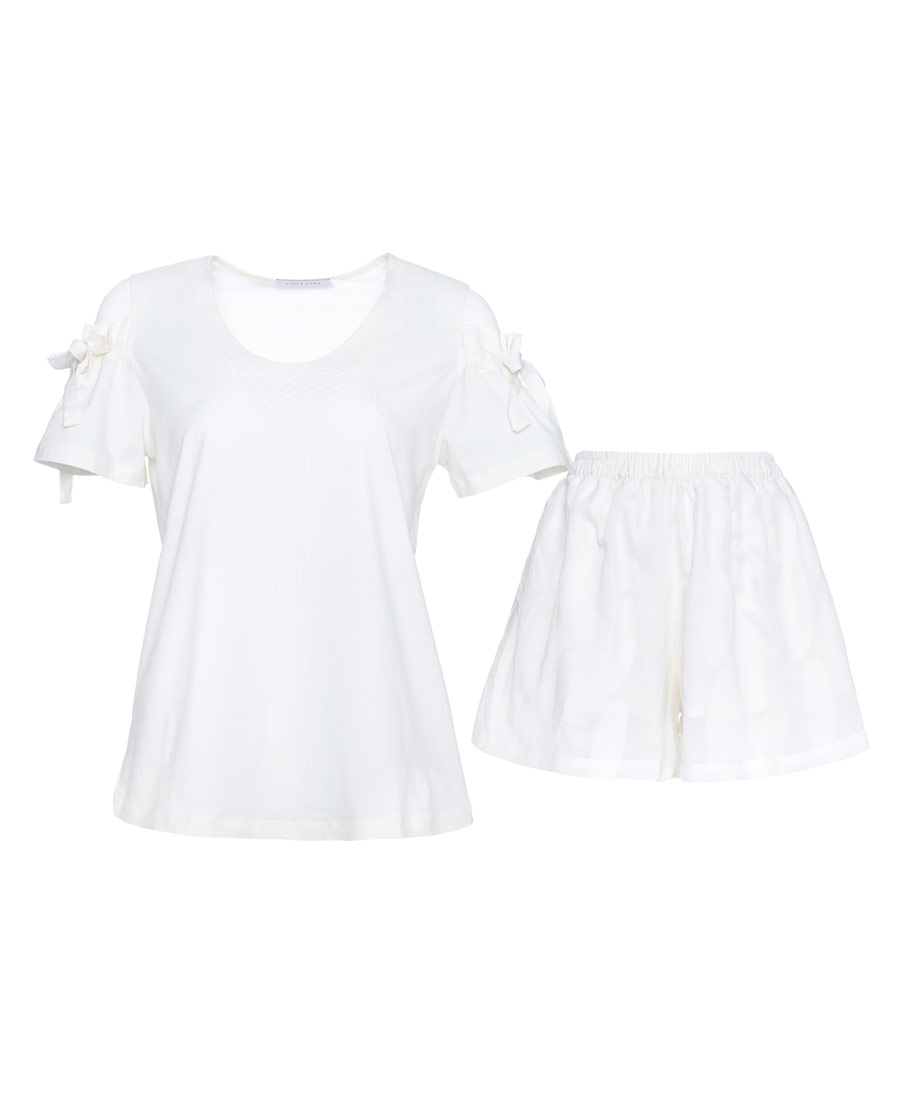 Aimer Home睡衣|爱慕家品圆点柔情短袖短裤套装AH460041