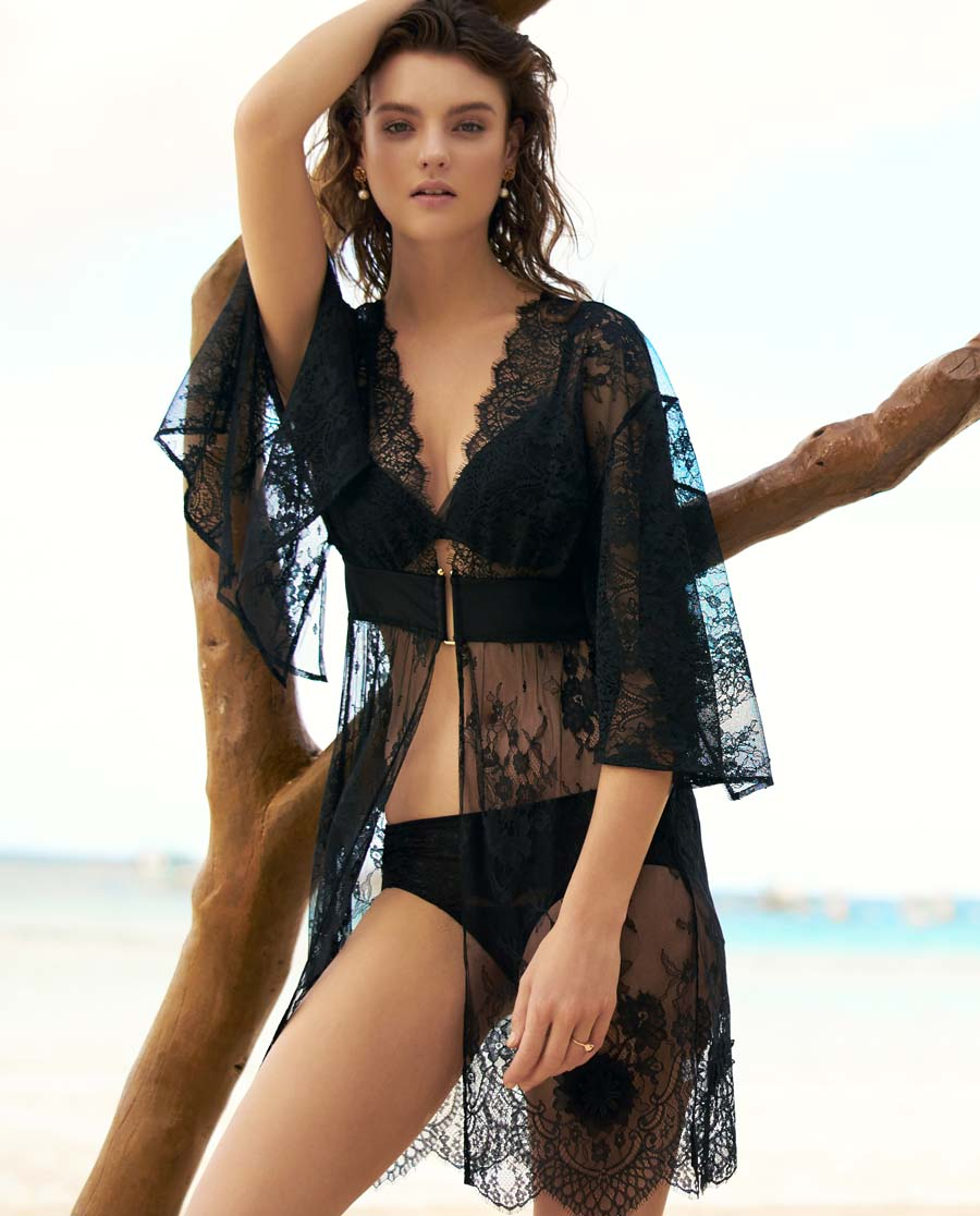 Aimer泳衣|爱慕盛放玫瑰沙滩衣AM601621
