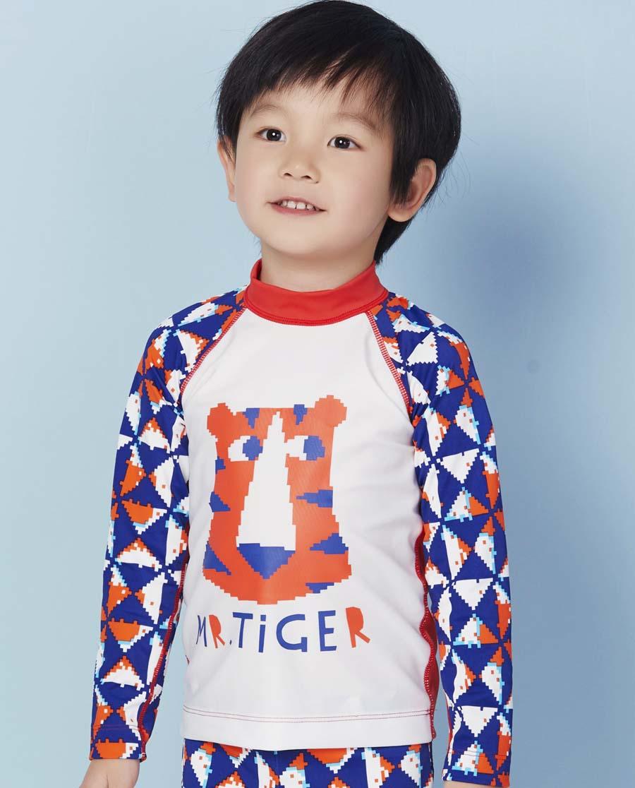 Aimer Kids泳衣|爱慕儿童新造型主义长袖泳衣AK267X61
