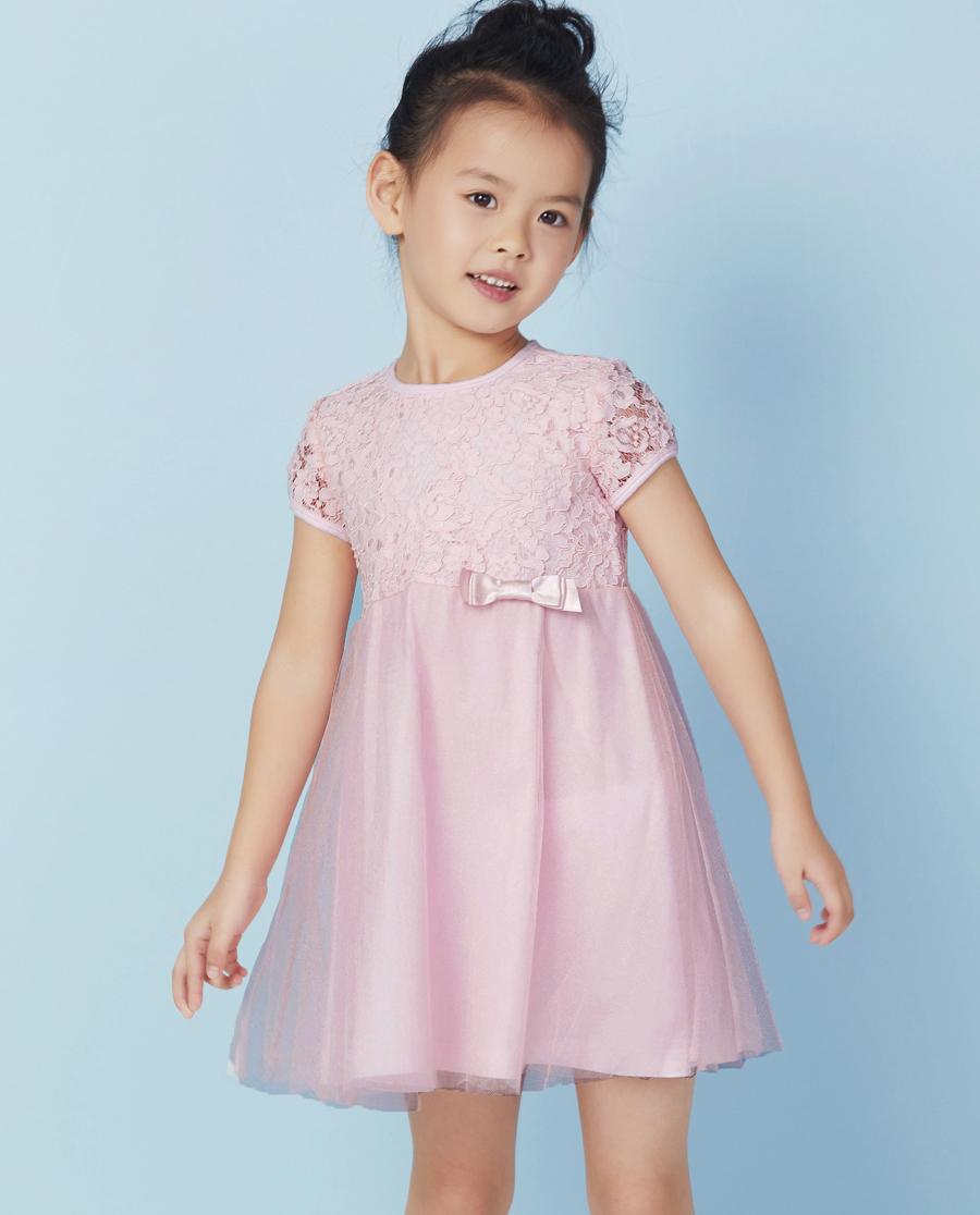 Aimer Kids睡衣|爱慕儿童浪漫蕾丝短袖连衣裙AK183X11