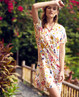 Aimer Home睡衣 爱慕家品海岛花园衬衫式短袖家居裙AH440061