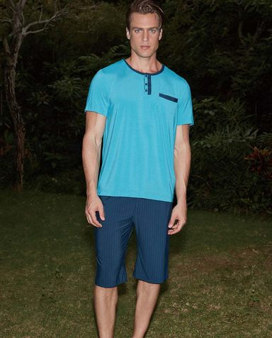 Aimer Men睡衣|爱慕先生新品条纹情怀家居短裤NS42A801