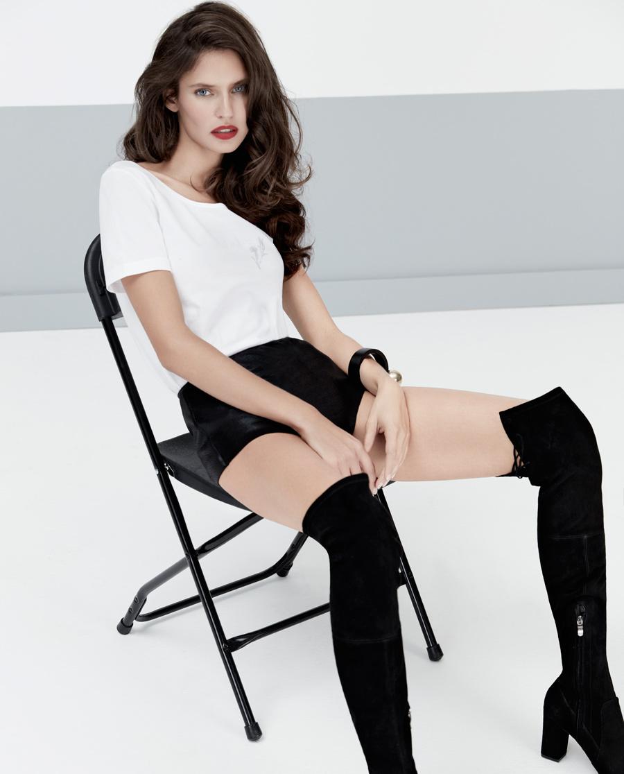 La Clover保暖|LA CLOVER基础棉打底连体短袖上衣