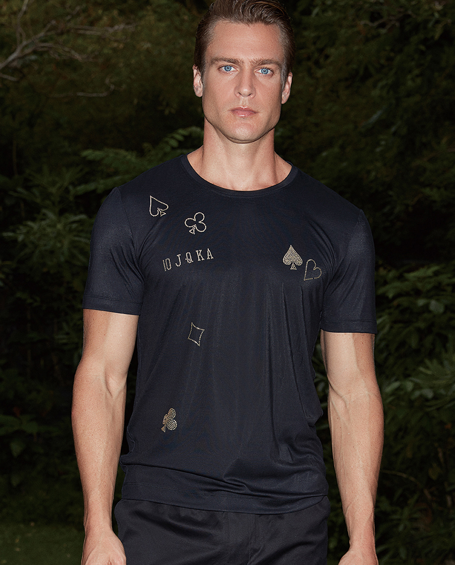Aimer Men睡衣|创意T圆领短袖