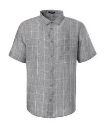 爱慕先生亚麻格纹短袖衬衫NS81A951