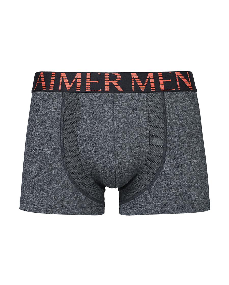 Aimer Men运动装|爱慕先生酷黑运动中腰平角内裤NS63A7