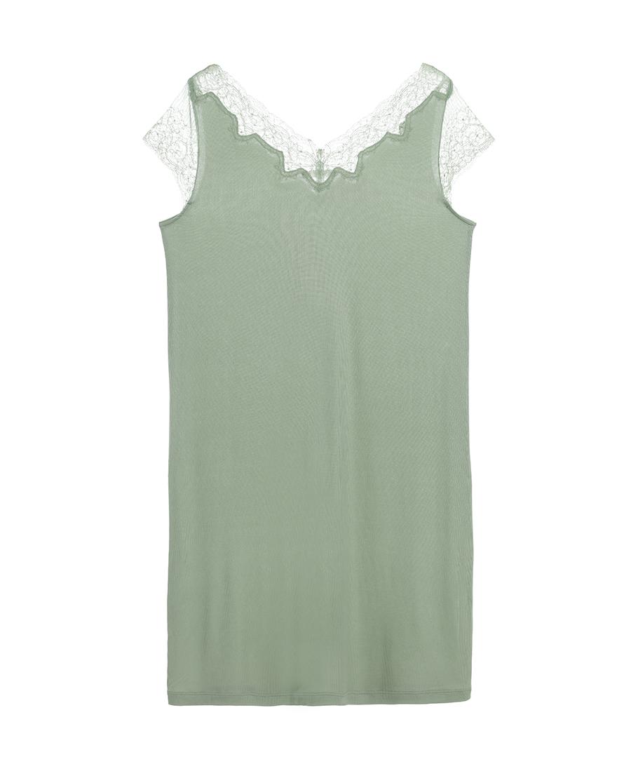 Aimer睡衣|爱慕薇拉假日小包袖中款睡裙AM44156