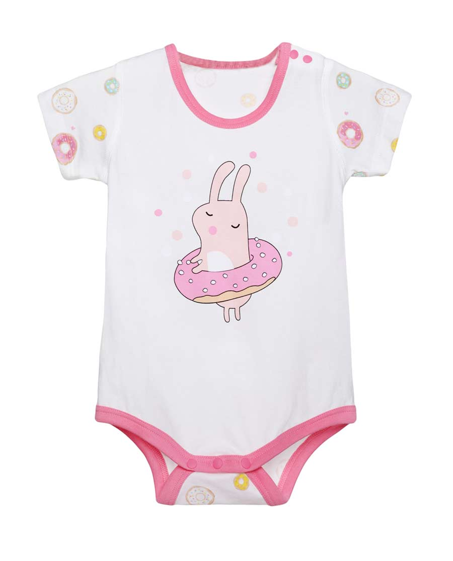Aimer Baby保暖|爱慕儿童honey甜甜圈短袖无腿连体爬服