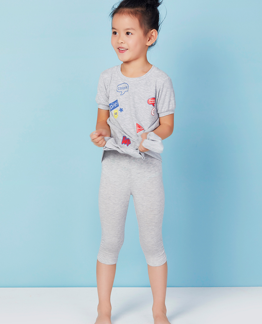 Aimer Kids睡衣|爱慕儿童舒适打底裤七分打底裤AK182P31