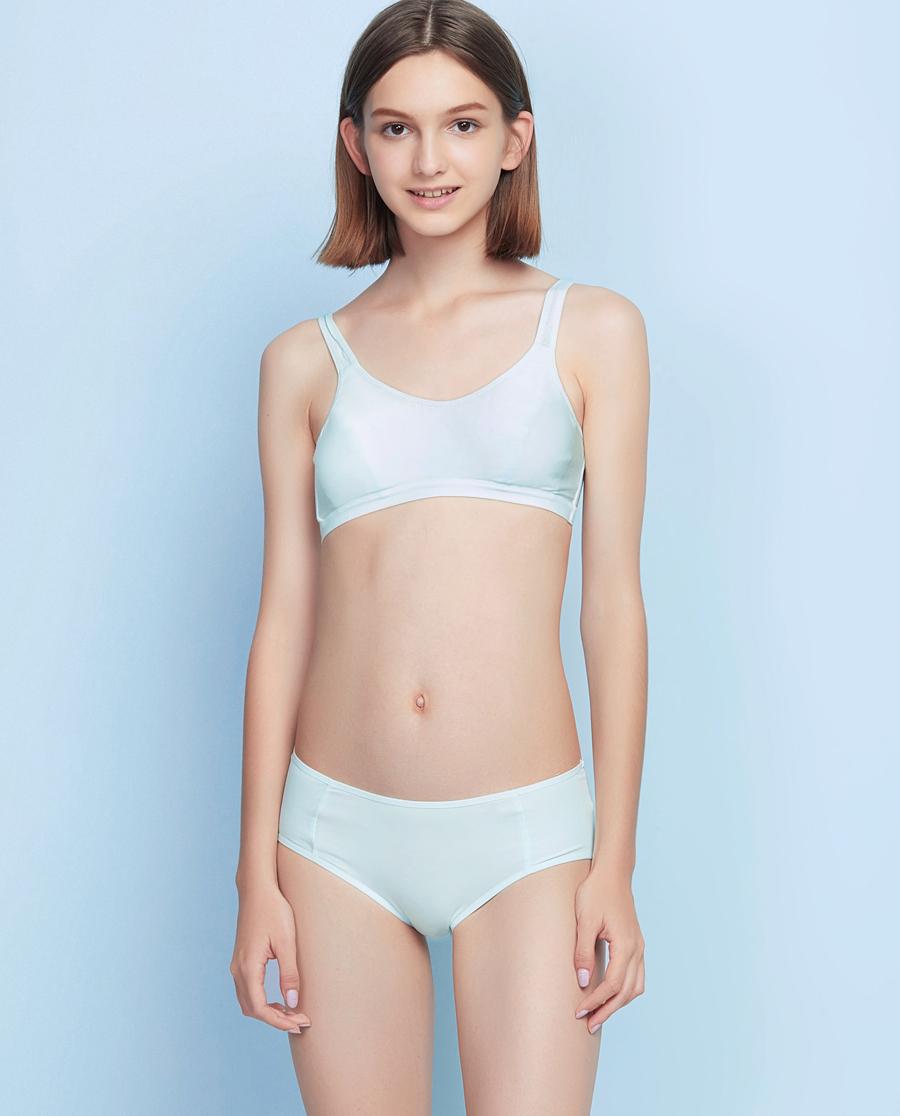 Aimer Junior内裤|爱慕少女舒适运动中腰平角内裤AJ123441