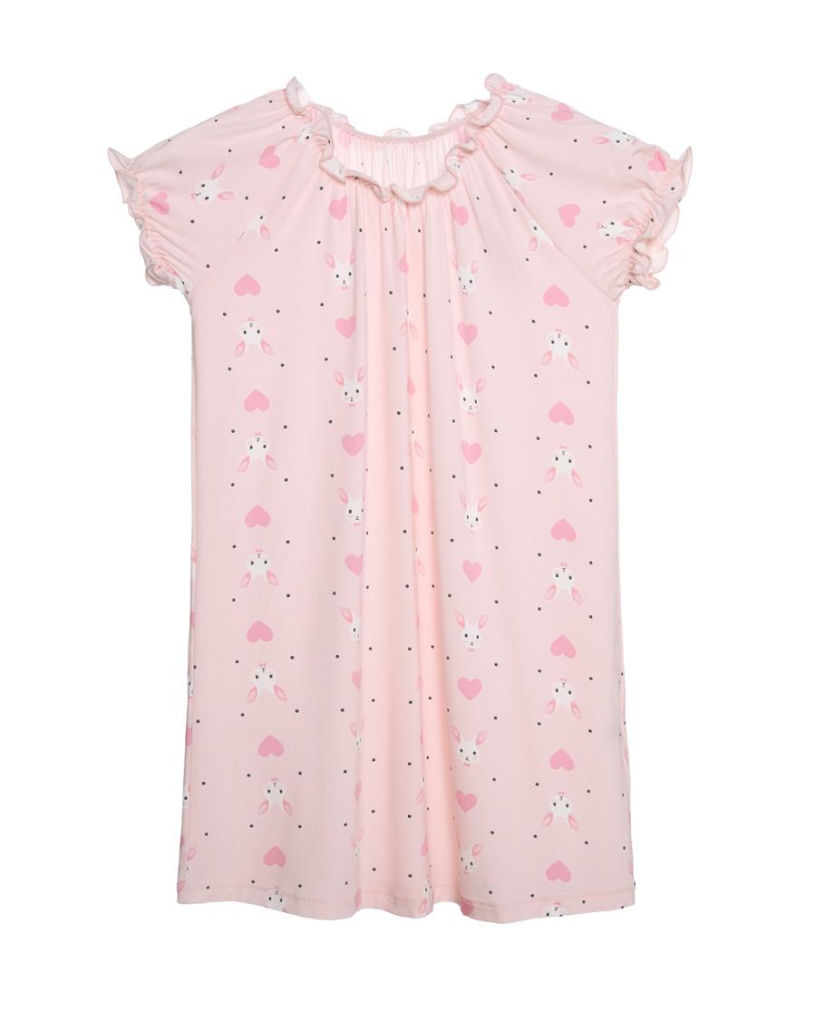 Aimer Kids睡衣|爱慕儿童爱心兔短袖睡裙AK144V41