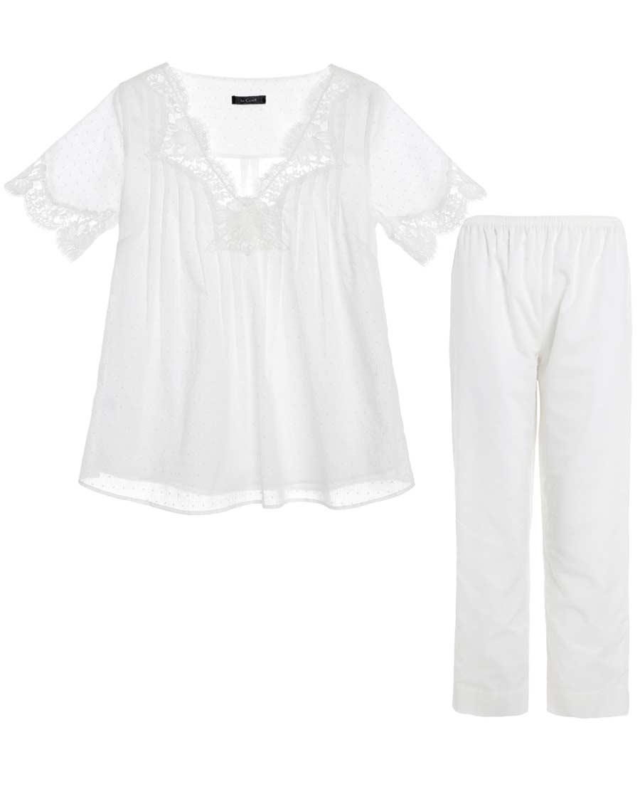 La Clover睡衣|LA CLOVER纯真年代短袖分身睡衣套装LC46DT1