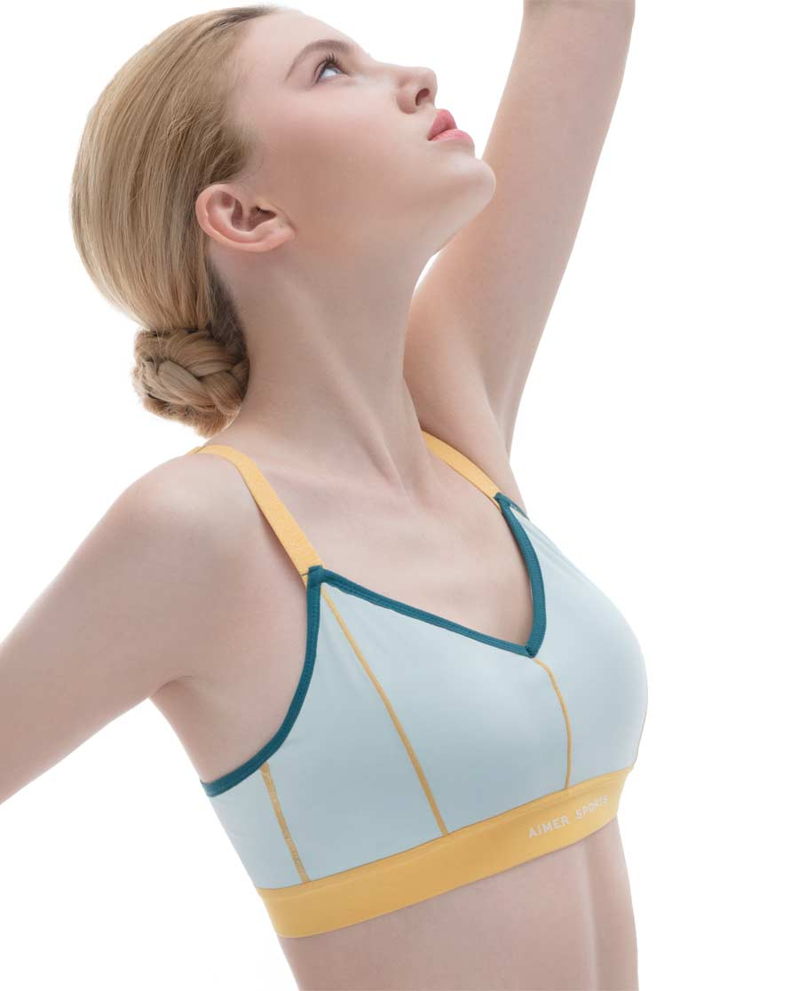 Aimer Sports文胸|爱慕运动Youth 瑜伽低强度背心式中厚模杯文胸AS116D42
