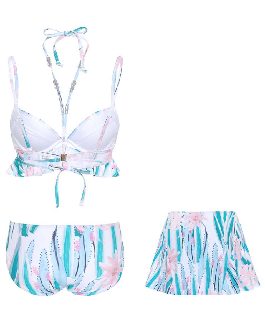 La Clover泳衣 LA CLOVER莓粉mojito比基尼三件套LC67FG1