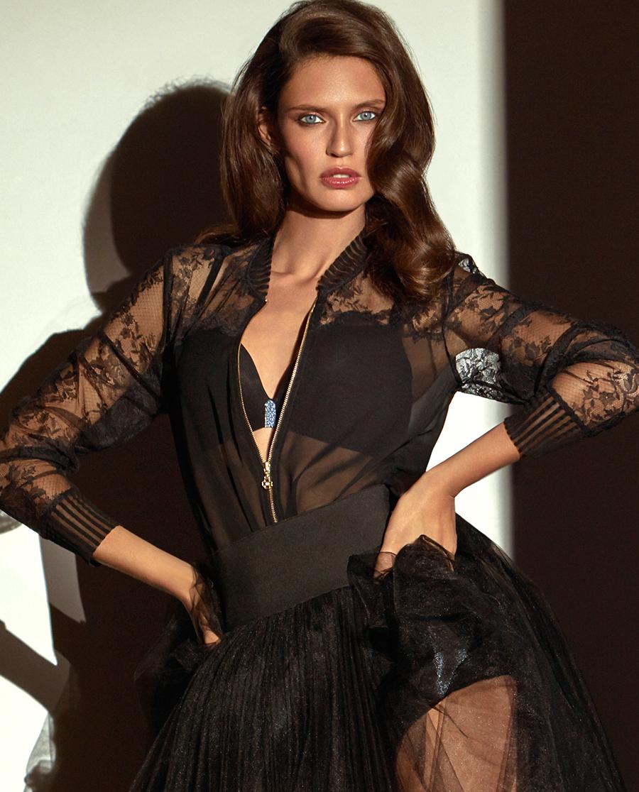 La Clover睡衣|LA CLOVER蕾丝外穿长袖夹克LC81FA2