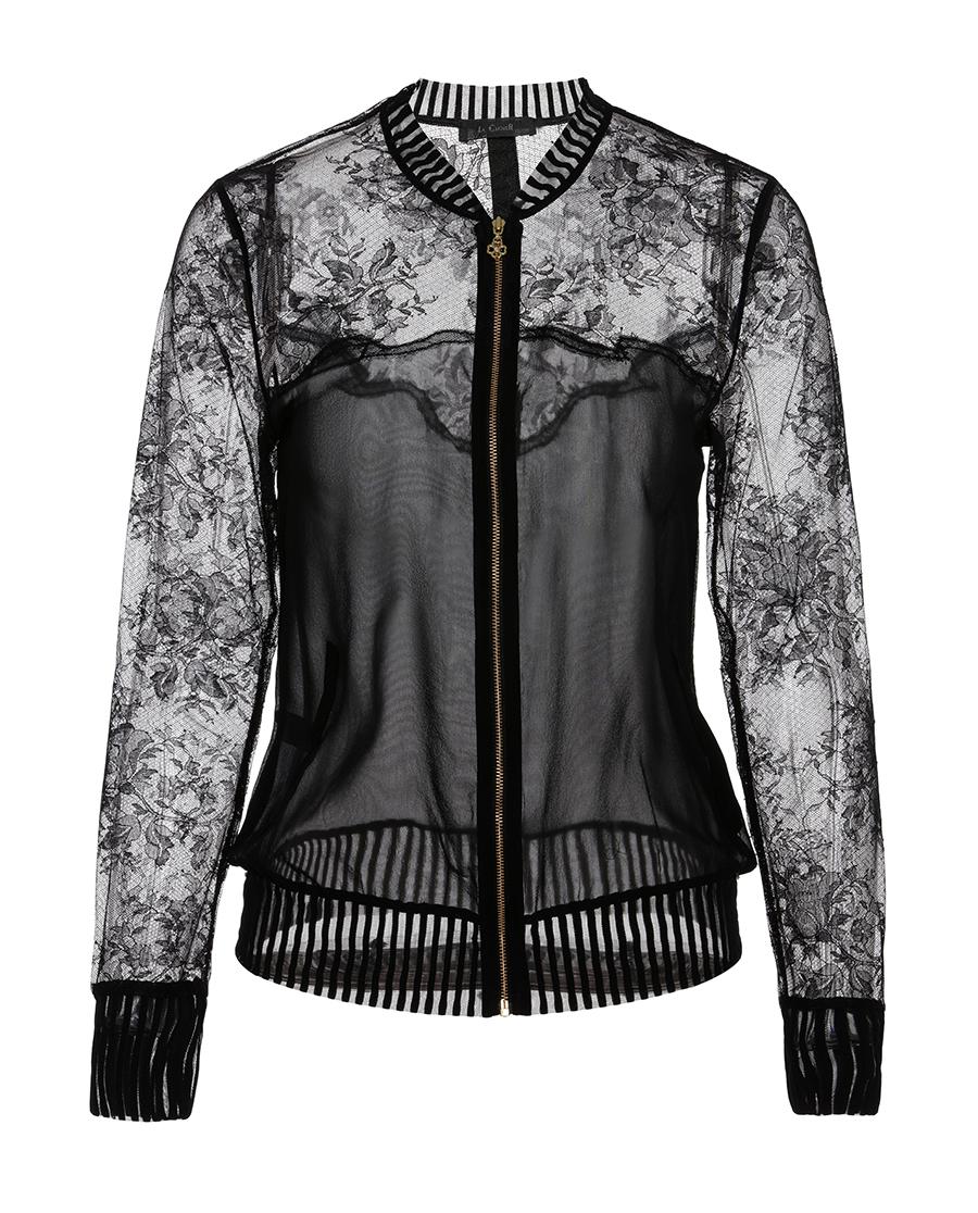 La Clover睡衣|LA CLOVER蕾丝外穿长袖夹克LC8