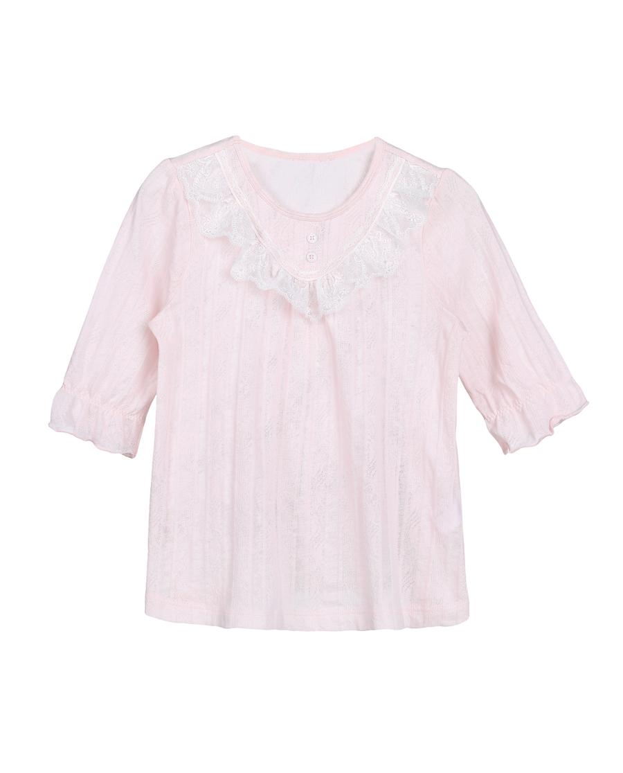 Aimer Kids睡衣|爱慕儿童花枝密语女童家居七分袖上衣AK1
