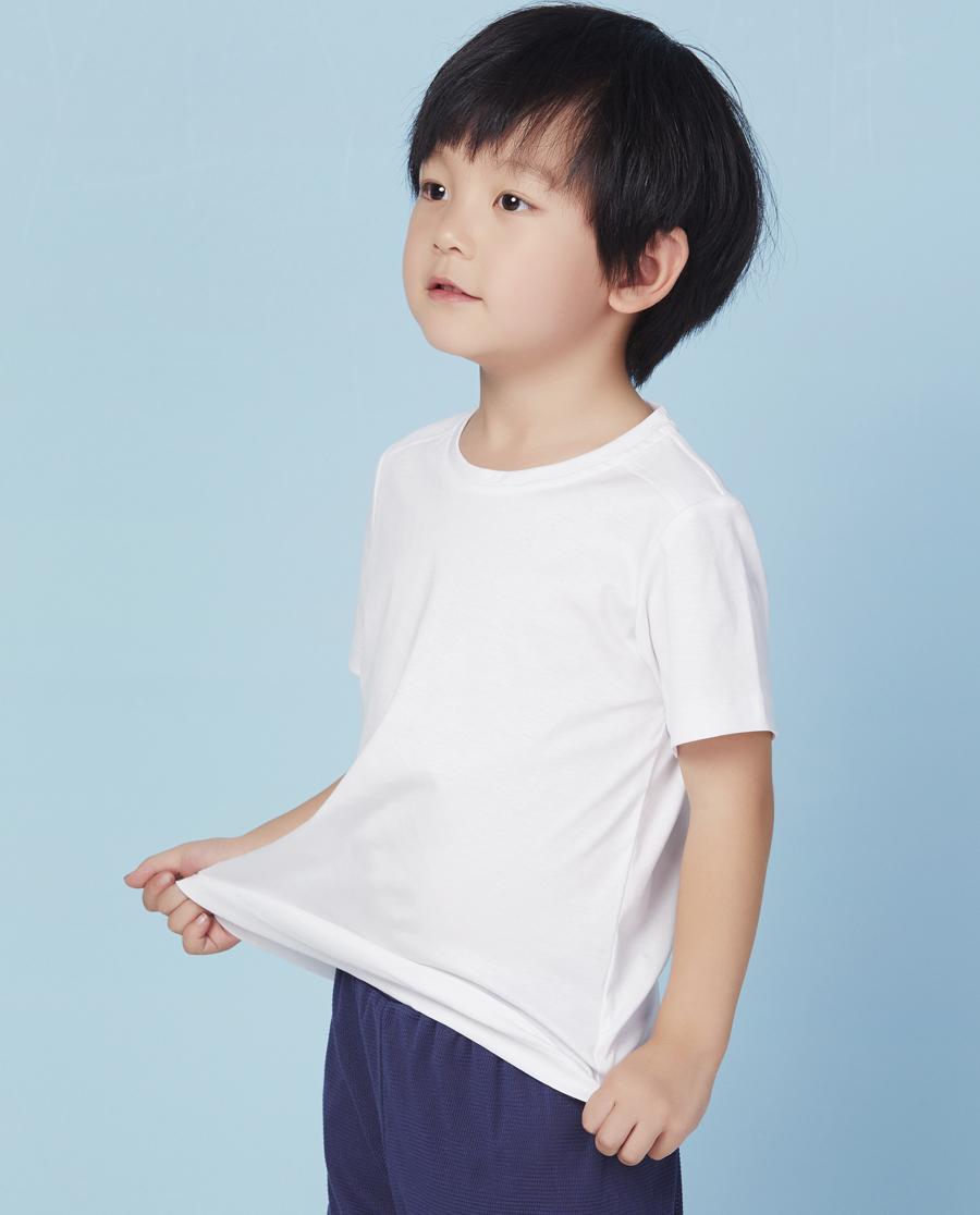 Aimer Kids睡衣|爱慕儿童百搭T圆领短袖上衣AK381F51