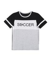 爱慕儿童世界杯拼接短袖上衣AK281X21