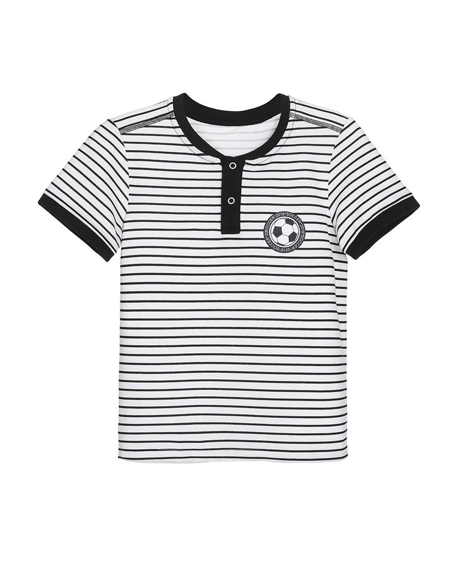 Aimer Kids睡衣|爱慕儿童世界杯条纹短袖上衣AK281X2