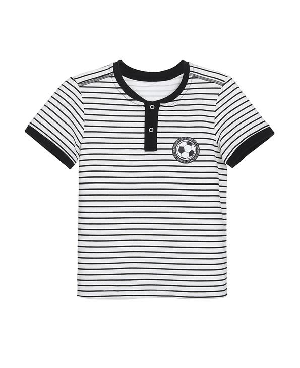 Aimer Kids睡衣|爱慕儿童世界杯条纹短袖上衣AK281X22
