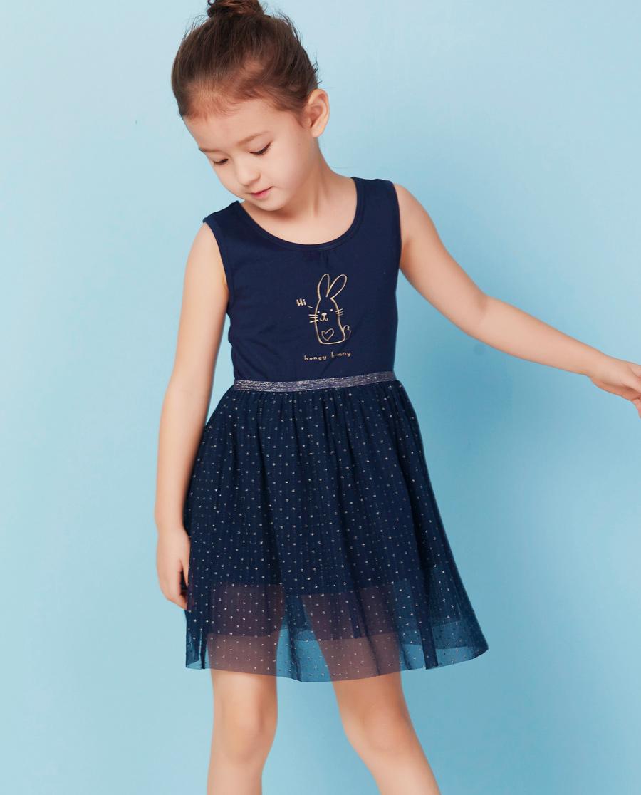 Aimer Kids睡衣|爱慕儿童星星花语背心连衣裙AK183X22