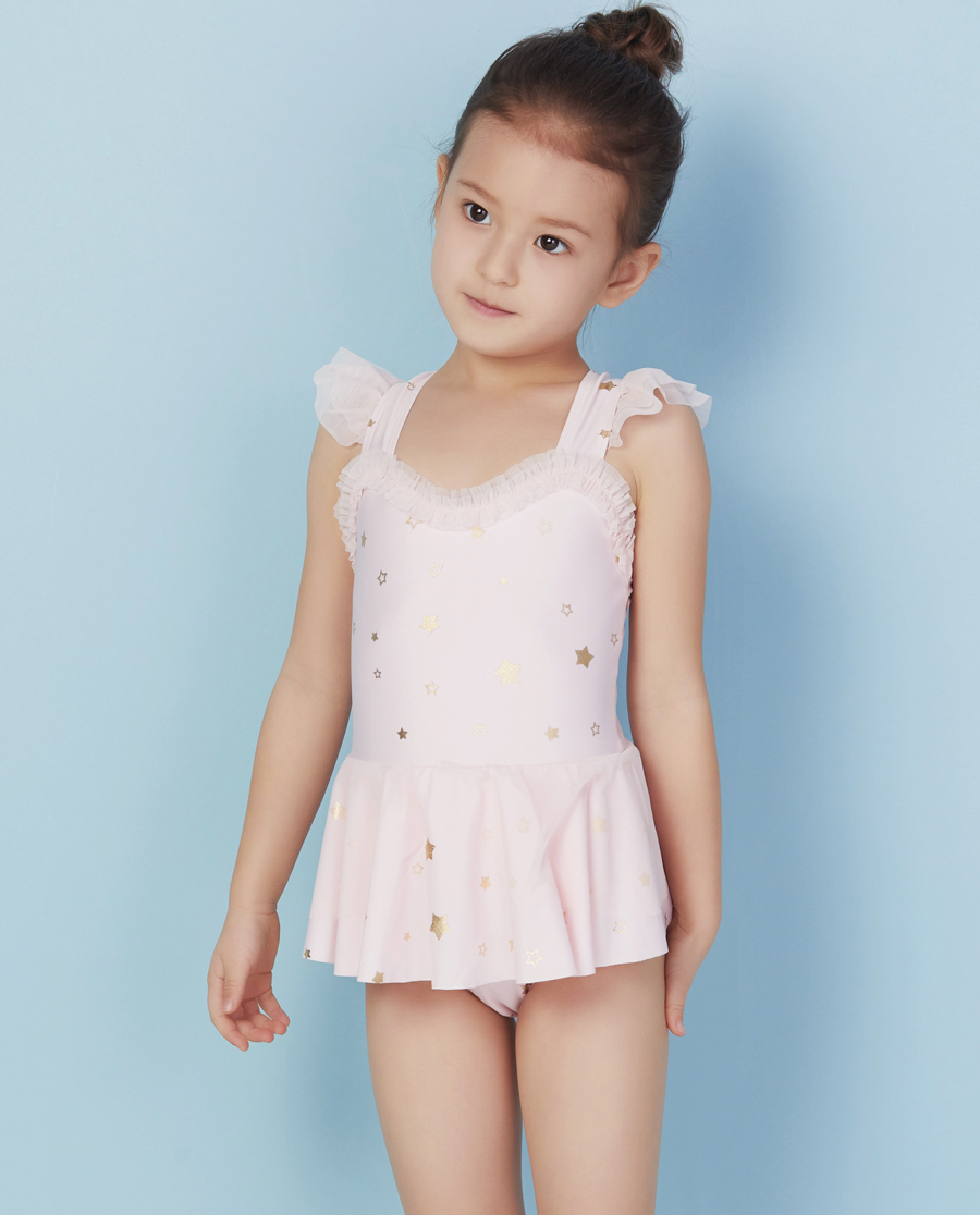 Aimer Kids泳衣|ag真人平台儿童小星星连体泳衣AK167X91