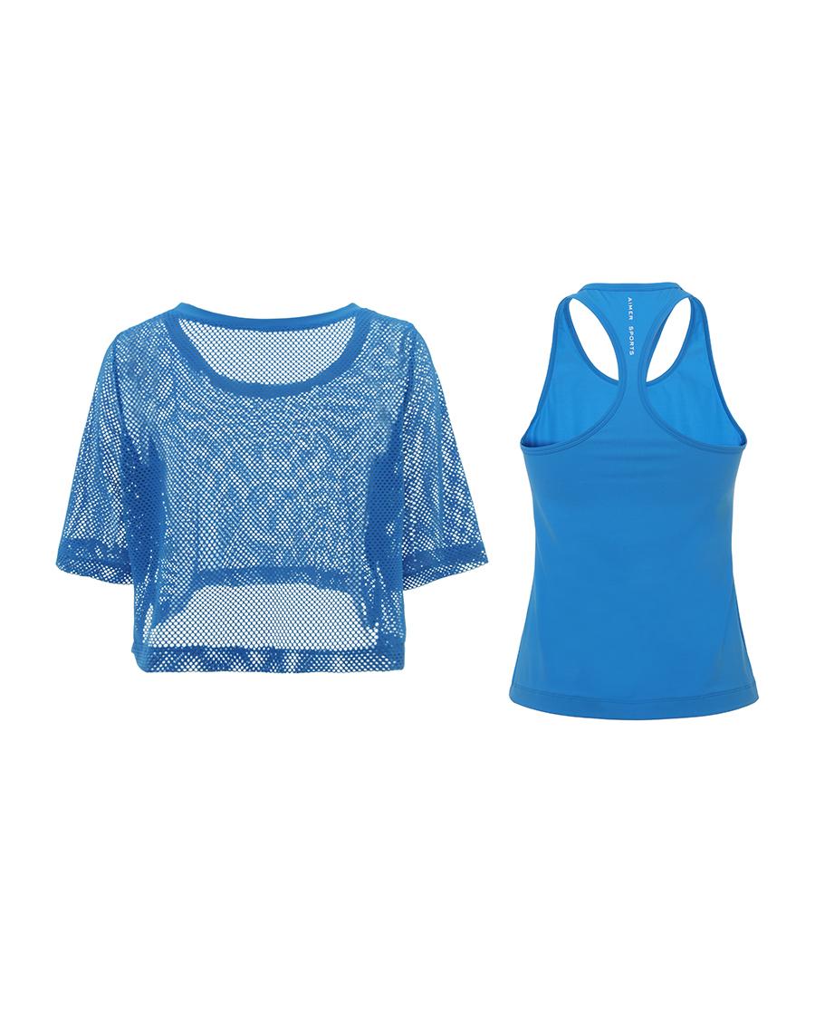 Aimer Sports运动装|爱慕运动短袖上衣两件套AS143D32