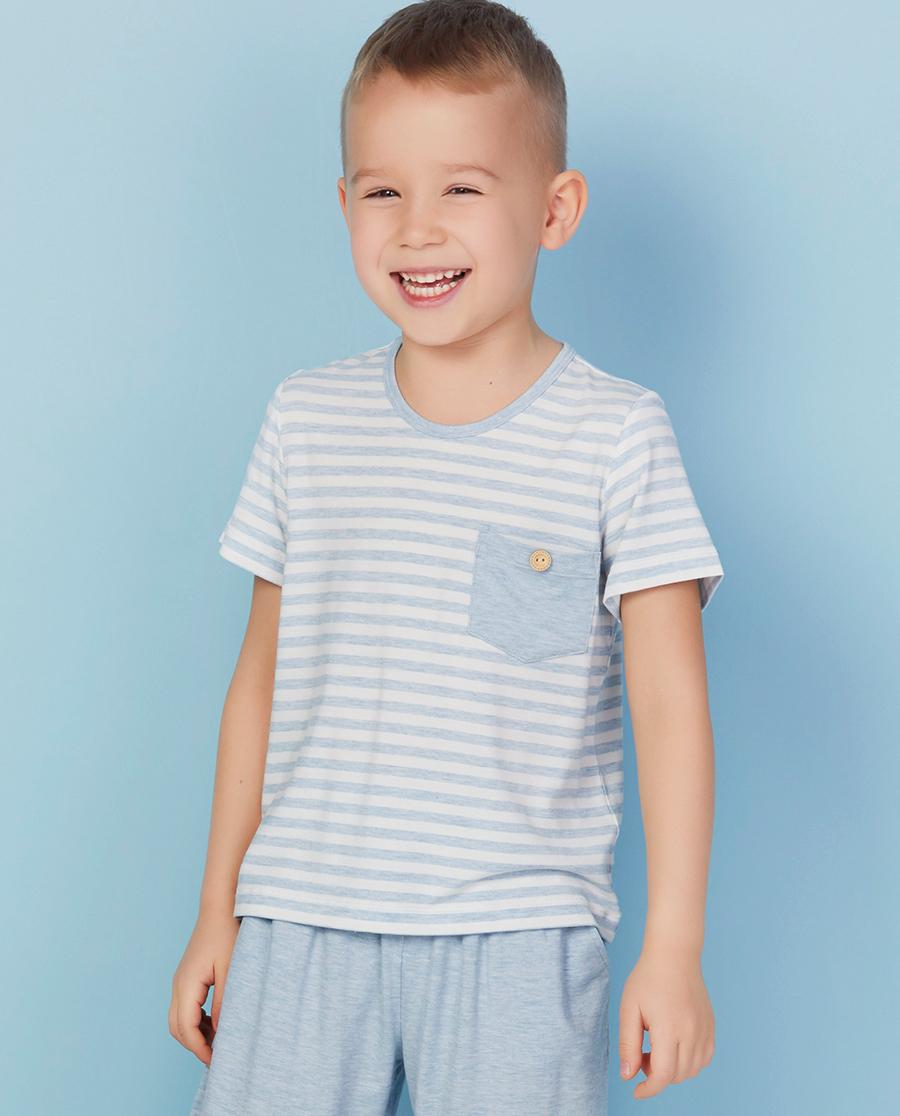 Aimer Kids睡衣|爱慕儿童开心宝贝短袖上衣AK241W71