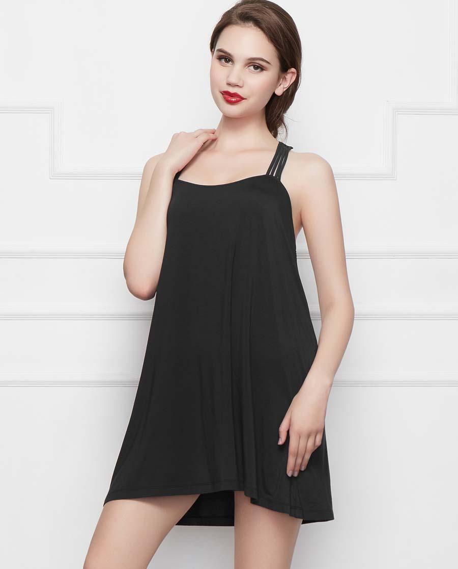 Shine Love睡衣|心爱夕夏温存带杯短款美背裙SL44J52