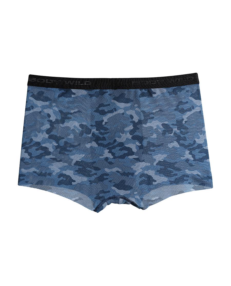 Body Wild内裤|宝迪威德网眼无痕印花中腰平角内裤ZBN2