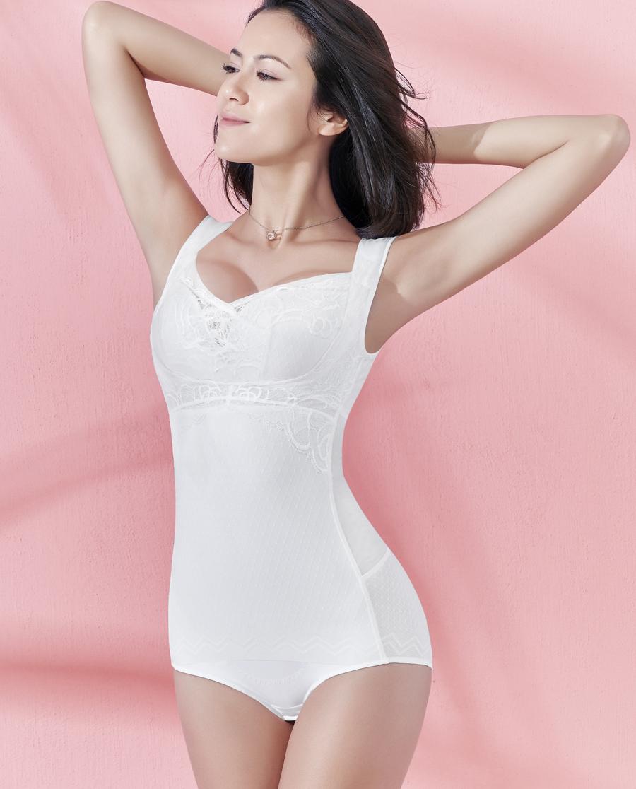 MODELAB美体|爱慕慕澜夏日翎悦轻型连体短腿塑身衣AD3