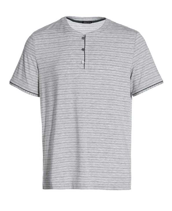 Aimer Men睡衣|爱慕先生新品条纹情怀家居圆领短袖上衣NS41A803