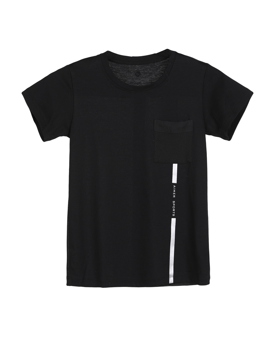 Aimer Kids睡衣|爱慕儿童复古派套头短袖上衣AK281X4