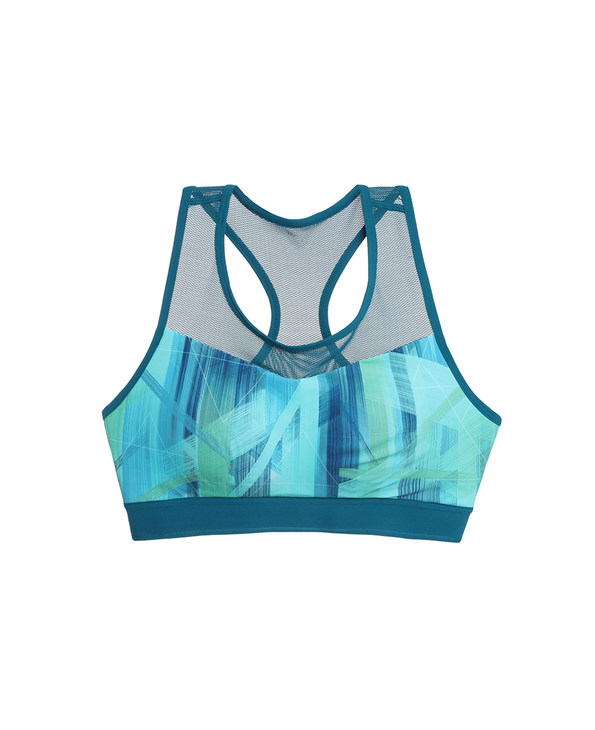 Aimer Sports文胸|爱慕运动盛夏晨跑印花中强度薄洞洞杯背心式文胸AS116D72