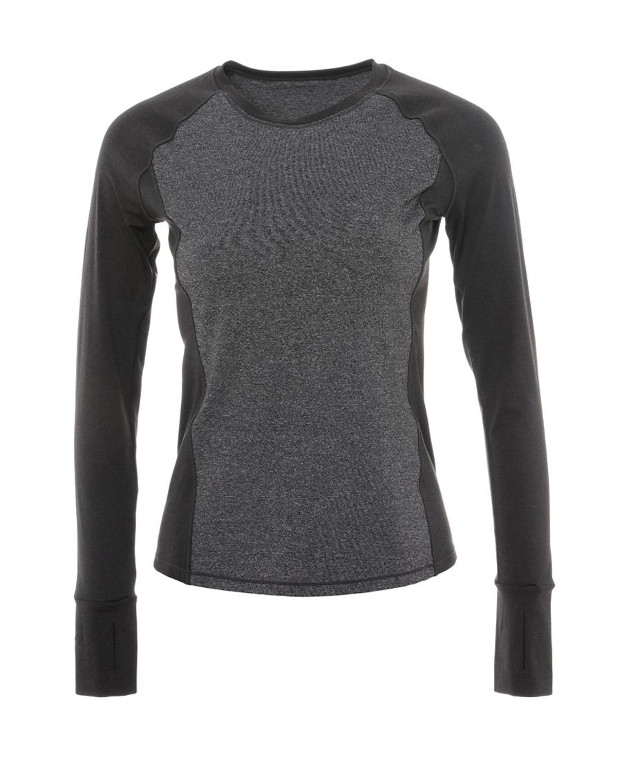 Aimer Sports运动装|爱慕运动拼色瑜伽圆领长袖上衣AS144E41
